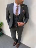 Slim Fit İtalyan Kesim Pamuk Takım Elbise Antrasit