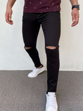Slim Fit Kot Pantolon Siyah