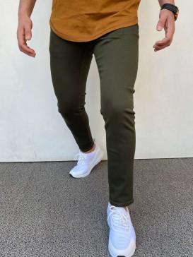 Slim Fit Kot Pantolon Yeşil