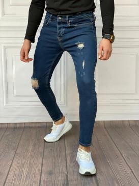 Slim Fit İtalyan Kesim Yırtık Model Kot Pantolon