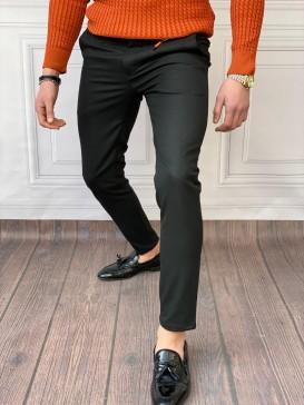 Skinyfit Yüksek Kalite Likralı Siyah Kumaş Pantolon