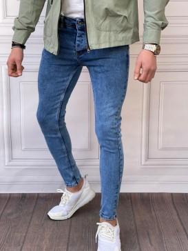 Skinyfit Yüksek Kalite Likralı Yıkamalı Mavi Kot Pantolon