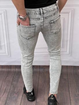 Skinyfit Yüksek Kalite Likralı Yıkamalı Gri Kot Pantolon
