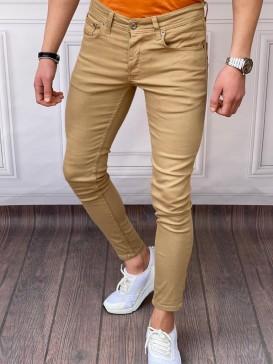 Skinyfit Yüksek Kalite Likralı Bal Rengi Kot Pantolon