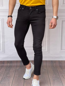 Skinyfit Yüksek Kalite Likralı Düz Siyah Kot Pantolon