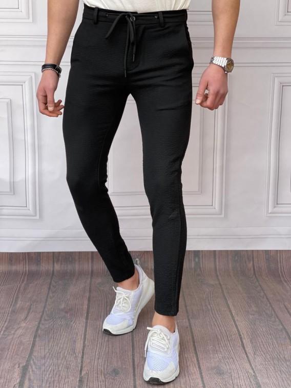 İtalyan Kesim Armur Kumaş Petek Örme Siyah Spor Takım Elbise