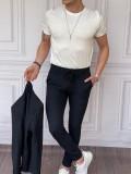 İtalyan Kesim Armur Kumaş Petek Örme Lacivert Spor Takım Elbise