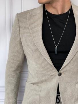 İtalyan Kesim Armur Kumaş Petek Örme Krem Spor Takım Elbise