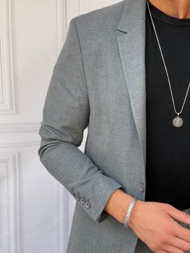 Ceket+Pantolon Pamuk Likra Füme Takım