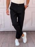 Boyfriend(rahat kalıp) Siyah Kot Pantolon