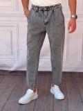 Boyfriend(rahat kalıp) Yıkamalı Gri Kot Pantolon