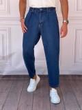 Boyfriend(rahat kalıp) Laciverti Kot Pantolon