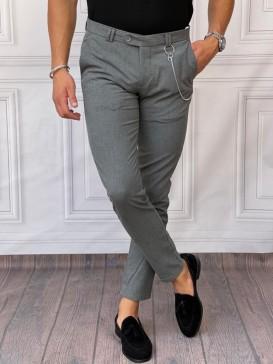 Pamuk Likra Kumaş Slimfit Füme Kumaş Pantolon